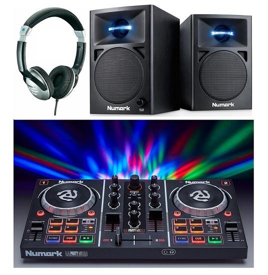 numark party mix and n wave 360 dj equipment package. Black Bedroom Furniture Sets. Home Design Ideas