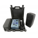QTX Suitcase 100w Complete PA System Open 1