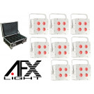 AFX 8 x Free Par Hex LED Lighting Effects and Flight Case Package