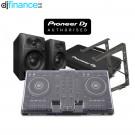Pioneer DDJ-400, DM-40 Speakers, Decksaver, DJC-Bag and Laptop Stand DJ Package