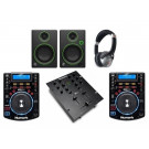 Numark NDX500, M101 and Mackie CR3 Pro DJ Package