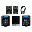 Numark NDX500, M4 and Mackie CR3 Pro DJ Package